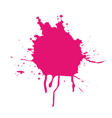 Pink splatter isolated
