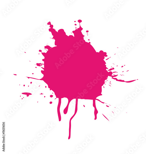 Pink splatter isolated