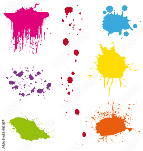 Colorful splatters