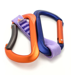 carabiner and express isolated