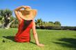 Young beautiful woman enjoying the sun