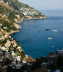 The coast between Positano and Praiano Vettica