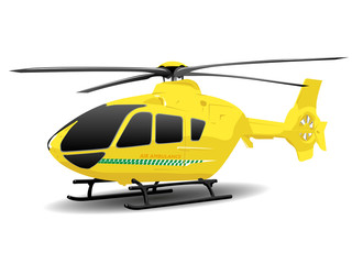 Yellow Air Ambulance Illustration