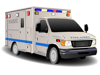 Modern Ambulance Illustration