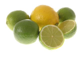 Zitrone mit Limetten/green and yellow lemons