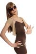 Frau im Minikleid | woman in mini dress