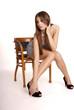 Frau auf Stuhl | woman on chair