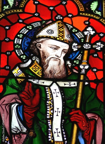 Saint Patrick in stained glass