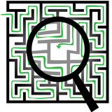 Maze Puzzle Magnifying Glass Symbols Find Things poster