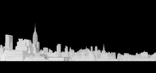 Line Drawing of New York City