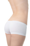 woman back in white panties poster