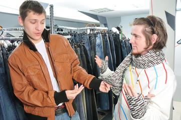 friends in wear shop