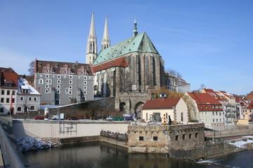 Vierradenmühle mit Peterskirche