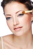 Applying eyeshadow poster