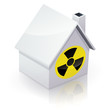 Maison blanche et radiation (reflet)
