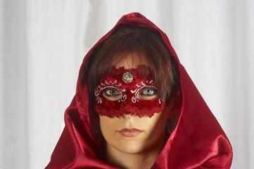 """Maschera veneziana """"rossa - argento"""""""