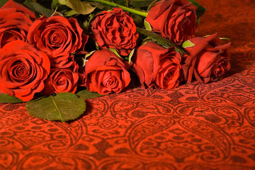 Bunch of roses background