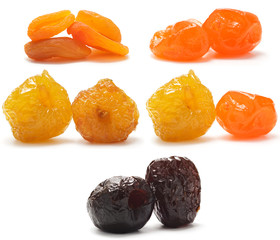 A collection of different dried fruit