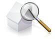 Diagnostic immobilier d'une maison blanche (reflet)
