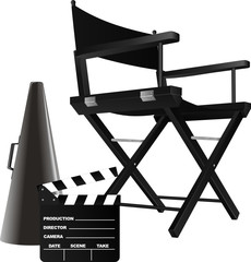 Vector illustration of director's chair