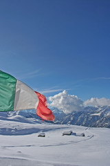 view of the italian alps in winter