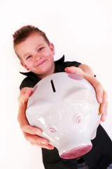 piggy bank boy