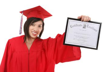 Pretty Asian Graduate Woman