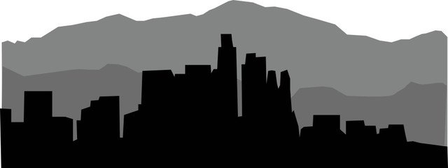 Los Angeles Skyline Vector
