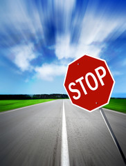 stop on speed road