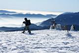 winter trekking in the alps poster