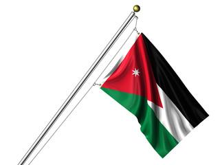 Isolated Jordanian Flag