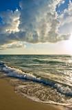 Atlantic ocean coast, FL, USA poster