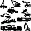 construction machines collection - vector