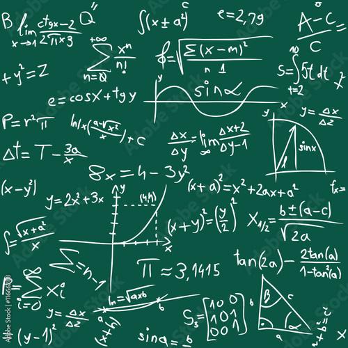 Vektorillustration des nahtlosen Mathe-Hintergrundes