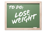 Chalkboard Series - Lose Weight poster