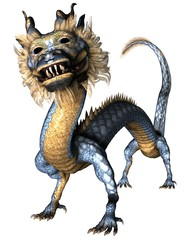 Proud Smiling Asian Dragon