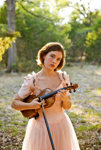 Violin Girl Portrait