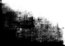 Ramka splatter abstrakcyjne farby w czerni i bieli
