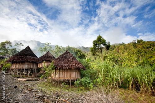 Canvas Indonesië Traditional Hut