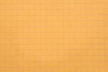 An orange sheet of squared paper