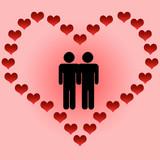 dia de san valentin gays poster