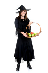 Witch treading us on apples
