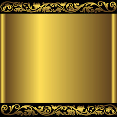 Golden abstract background (vector)