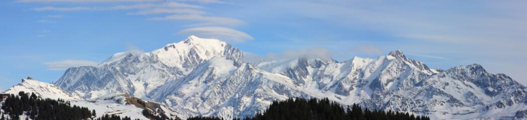 panorama du mont-blanc