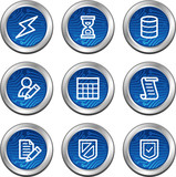Database web icons, blue electronics buttons series poster