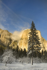 sunlight on El Capitan