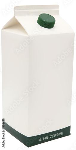 Leinwandbild Motiv Carton of Milk, Juice or Soy.