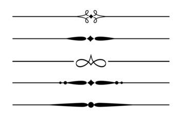 5 Dividers, Trennlinien und Zierlinien mit Ornamenten #3
