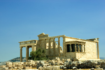 The Erechtheum, located at the Acropolis of Athens.