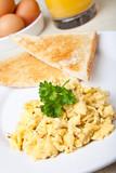 Healthy breakfast of scrambled poster
